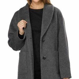 Derek Lam Women's 10 Crosby Large Gray Wool Coat